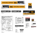Montgomery Wards 14 Variable Speed Decal Kit