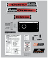 Gilson 1972 15hp Four Speed Variable Decal Kit