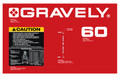 """Gravely PM-300 60"""" Mower Decals"""