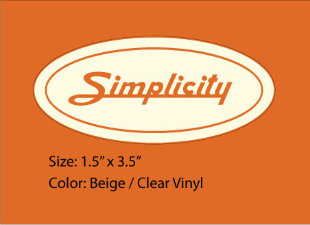Simplicity Oval Logo Beige Vintage Reproductions