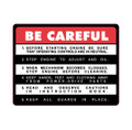 FMC Bolens Deck Be Careful decal
