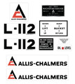 Allis Chalmers L-112 Decal Set