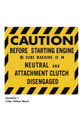 Ariens 1965-1974 10000 & 910000 Series Caution Neutral Decal