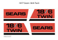 SEARS 1977 18/6 Twin Hood Decals