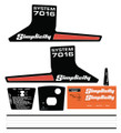 Simplicity 7016 System 3 Speed Decal kit
