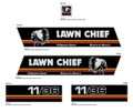 Lawn Chief 11/36 Lawn Mower Decal kit