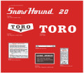 TORO SnowHound 20 Snowblower decals