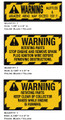 Ariens 7HP Snow Blower Warning Decals