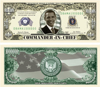 Barack Obama Million Dollar Novelty Bills