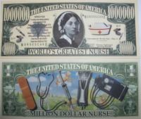 Nurse One Million Dollar Bill