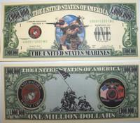 U.S Marines One Million Dollar Bill