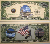 U.S Navy One Million Dollar Bill