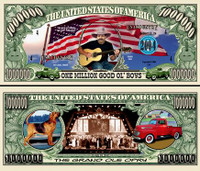 Country Western One Million Dollar Bill