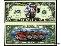 Road Warrior Racing Bike One Million Dollar Bill