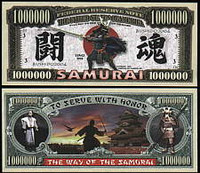 Samurai One Million Dollar Bill