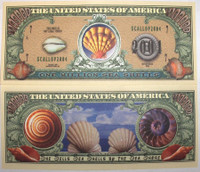 Seashells One Million Dollar Bill