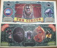 Circus (Big Top) One Million Dollar Bill