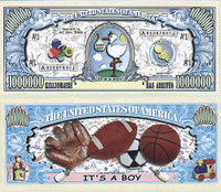 It's A Boy! One Million Dollar Bill
