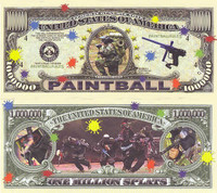 Paintball One Million Dollar Bill