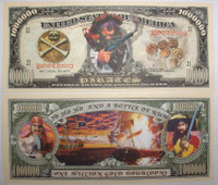 Pirate Gold Doubloon One Million Dollar Bill