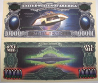 UFO One Million Dollar Bill