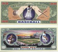 Baseball One Million Dollar Bill