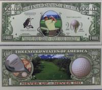 Golf One Million Dollar Bill