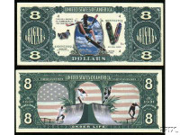 Skateboarder Eight Dollar Bill