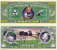 Soccer One Million Dollar Bill