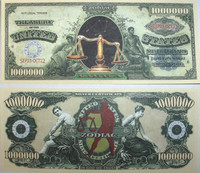 Libra Zodiac One Million Dollar Bill