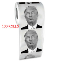 Donald Trump Toilet Paper 100 Rolls Wholesale Bulk Pack