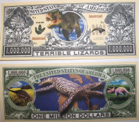 Jurassic One Million Dollar Bill