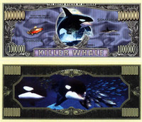 Killer Whale One Million Dollar Bill