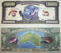 Koala One Million Dollar Bill