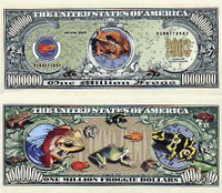 Tropical Frogs One Million Dollar Bill