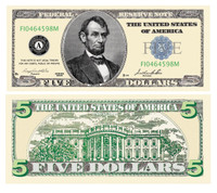 Five Dollar Bill Casino and Poker Night Money