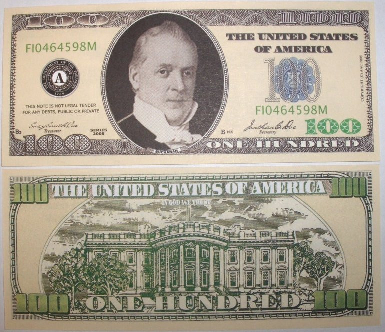 graphic about Fake Million Dollar Bill Printable named False A person Hundred Greenback Costs for On line casino and Poker Evening Economical