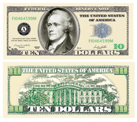 Ten Dollar Bill Casino and Poker Night Money