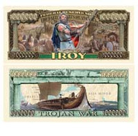 """TROY"" The Trojan War Million Dollar Bill"