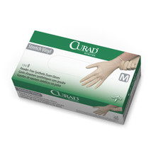 Curad Stretch Vinyl Exam Gloves, Powder-Free, Latex-Free, Non-Sterile, Small