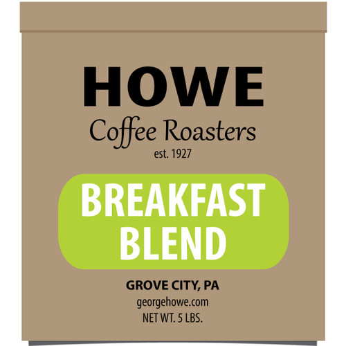 Breakfast Blend Whole Bean 5 lb. bag