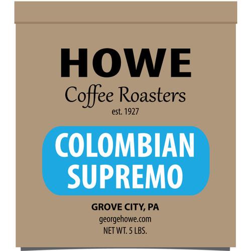 Colombian Supremo Whole Bean 5 lb. bag