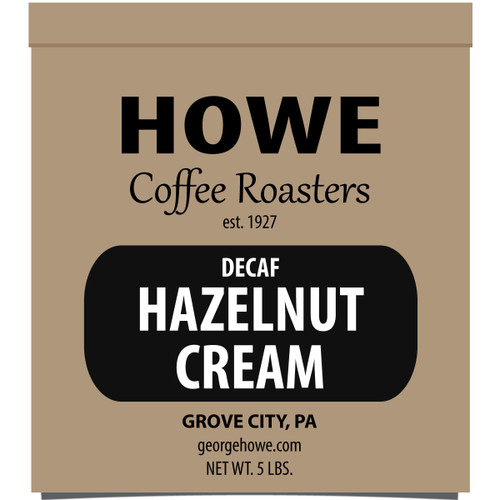 Decaf Hazelnut Cream Whole Bean 5 lb. bag