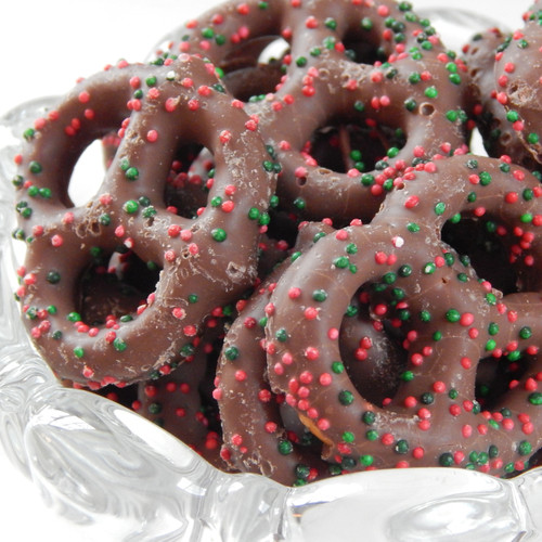 Milk Chocolate Christmas Pretzels 8 oz. bag