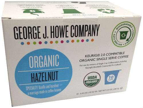 Hazelnut Organic Single Serve Cups - 10 ct.