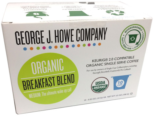 Breakfast Blend Organic Single Serve Cups - 10 ct.
