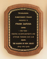 American Walnut Recognition Award Plaque with braided border, Laser engraved