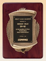 Rosewood Piano-Finish Recognition Award Plaque with Antique Bronze Casting, Laser engraved