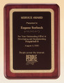 Rosewood Piano-Finish Recognition Award Plaque with Black Brass Plate, Laser engraved