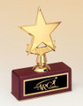 Star Award Trophy, Rosewood Base, #108